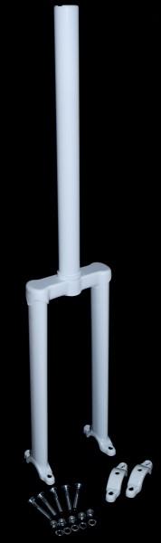 AJATA Freestyle Longneck Gabel 20 Zoll (406mm) Weiß