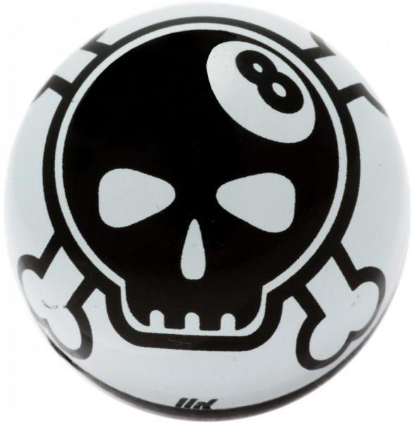 Ventilkappe Black Skull
