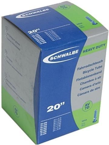 Schwalbe 7D Downhill / Trial Schlauch mit Autoventil 20 x 2,1 bis 3.0 Zoll (54 bis 75-406mm)