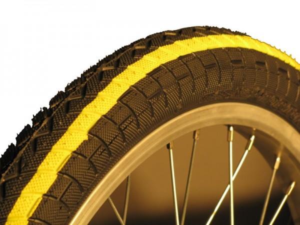 QU-AX Reifen 20 x 1.95 Zoll (50-406mm) gelb-schwarz