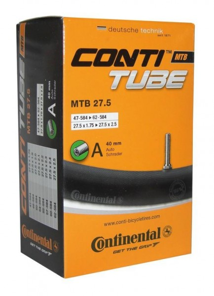 Conti MTB Schlauch (Autoventil) 27,5 x 1.75 - 2.4 Zoll (50/47/62-584mm)